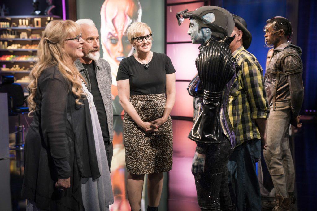 Judges inspect a cyborg creation